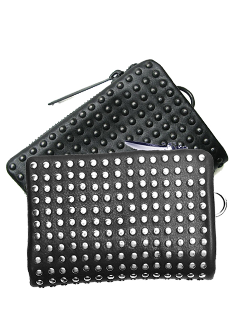 PATRICK STEPHAN パトリックステファン スタッズ2つ折りウォレット 154AWA02  Leather micro wallet 'all-studs' (r-r194)