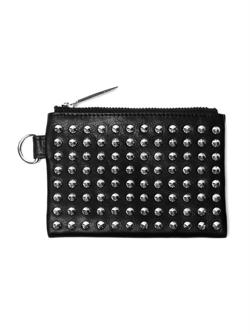 PATRICK STEPHAN パトリックステファン|ピラミッドスタッズ コインケース 156AWA48|Leather wide coin case 'all-studs' pointu (r-r194)