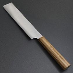 おしゃれなオリーブのハンドル 野菜料理が多い方に la 舗 base 155mm ラバーゼ 新着セール 薄刃包丁 LB-078