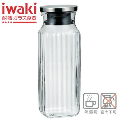 割引 ガラスのレリーフが清涼感を引き出します イワキ お気に入り iwaki SVシリーズ 1L スクエアサーバー KT296K-SV