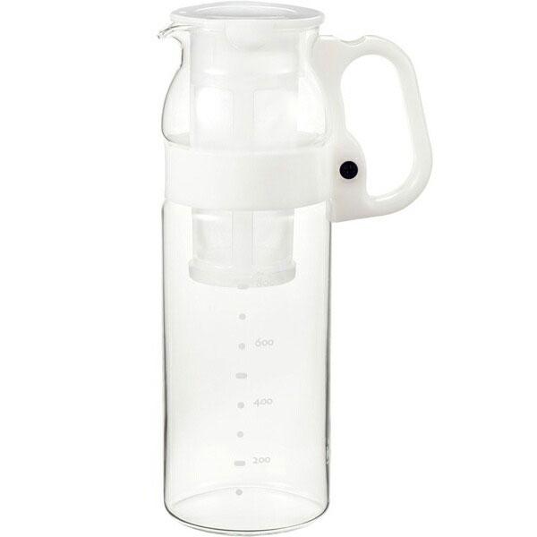 誰にでも扱いやすいハンドル。茶こし付きで、さらに便利。 iwaki イワキ 茶こし付きハンディサーバー1.3L ホワイト KT2933F-W