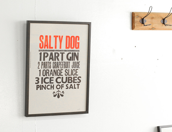 A TWO PIPE PROBLEM LETTERPRESS  SALTY DOG Lサイズ
