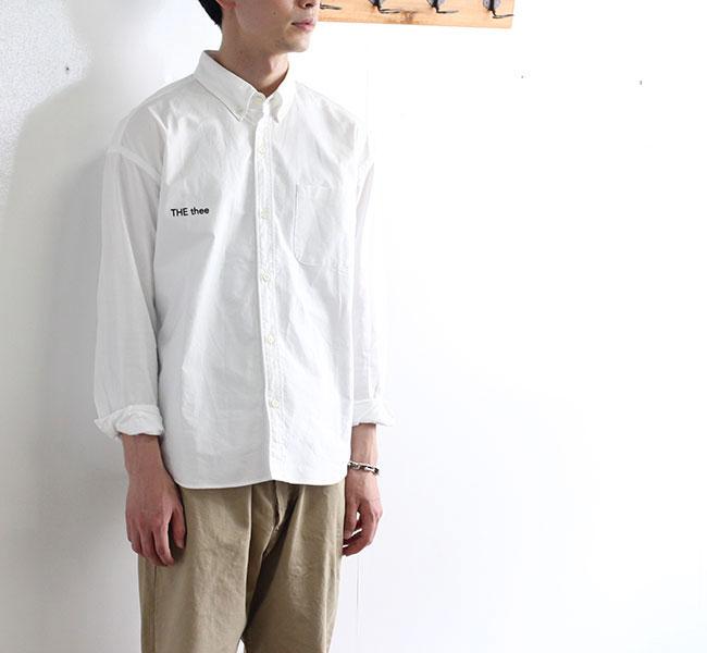 SALE20%OFF// nisica ニシカ  ルーズフィット ボタンダウンシャツ THE thee