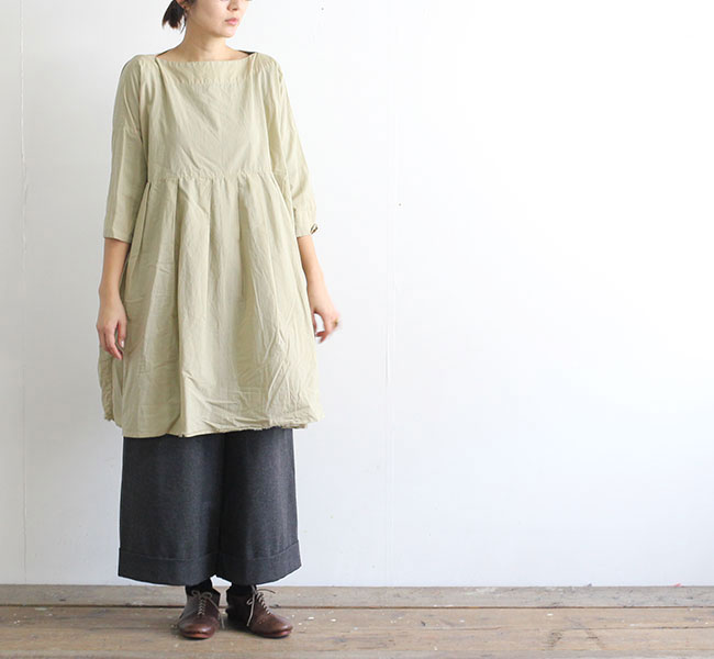 SALE20%OFF //Veritecoeur ヴェリテクール VC-1971A Broad Tunic