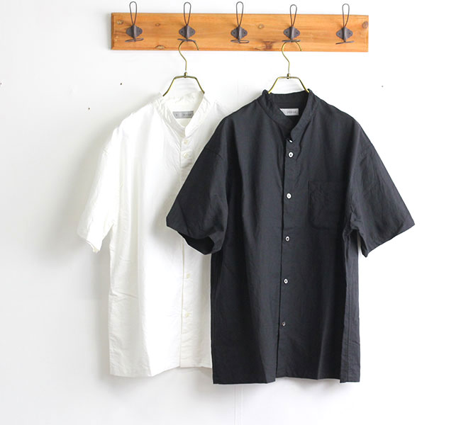 nisica ニシカ バンドカラーシャツ 半袖 NIS-911