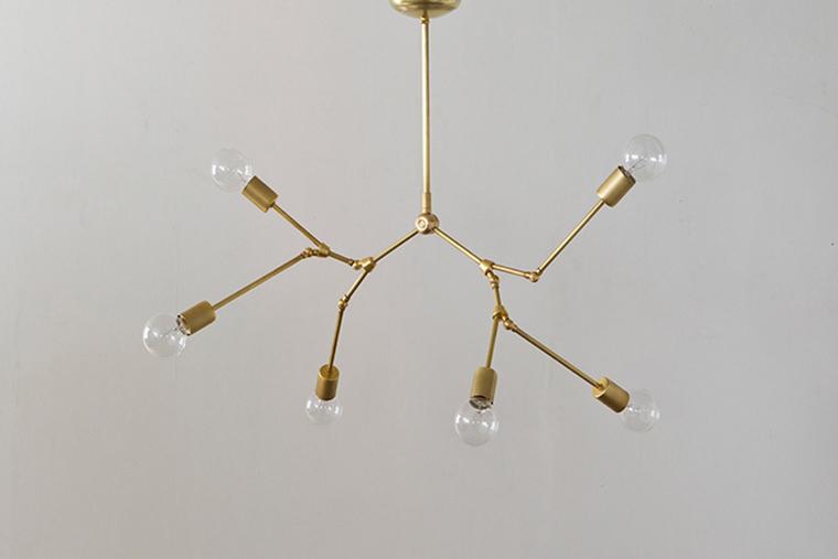 ACME FURNITURE アクメファニチャー SOLID BRASS LAMP 6ARM Chandelier ソリッドブラスランプ6アームシャンデリア