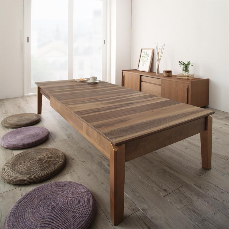 商品名 ローテーブル ELTA 伸張式 座卓幅120cm 150cm 180cm 3段階伸長テーブルサイズ 幅 120/150/180 奥行 75 高さ 37 cmカラー ウォールナット 突板生産国 ベトナムエクステンションテーブルリビングテーブル おしゃれ