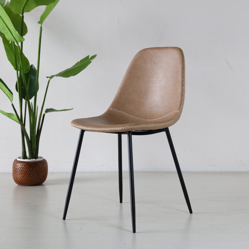 商品名  TCT ダイニングチェア材 料  スチール/ソフトレザー(ベージュ色)サイズ 幅43×奥行54×高さ80/座面高45cm組立式 北欧テイスト モダン 食卓椅子おしゃれ ダイニング 椅子 レザー 食卓イス
