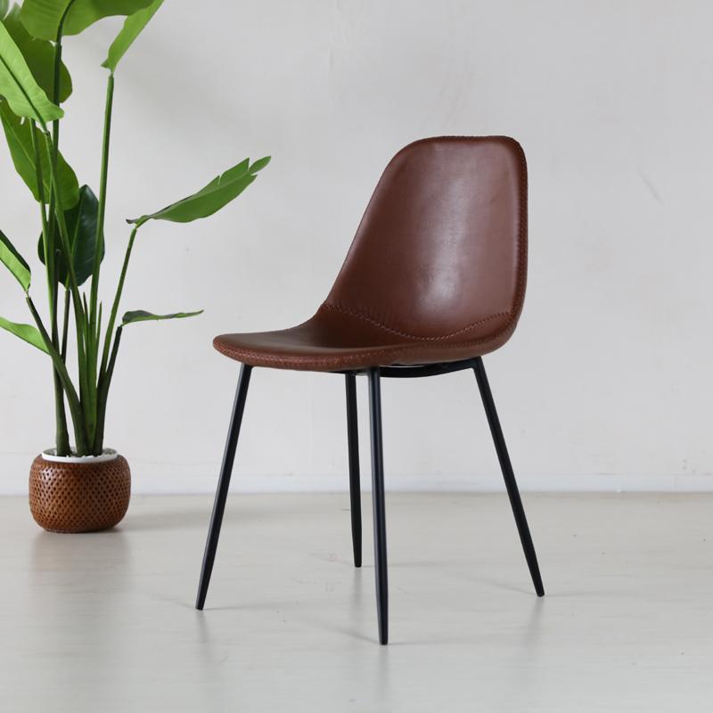 商品名| TCT ダイニングチェア材 料| スチール/ソフトレザー(ブラウン色)サイズ|幅43×奥行54×高さ80/座面高45cm組立式 北欧テイスト モダン 食卓椅子おしゃれ ダイニング 椅子 レザー 食卓イス