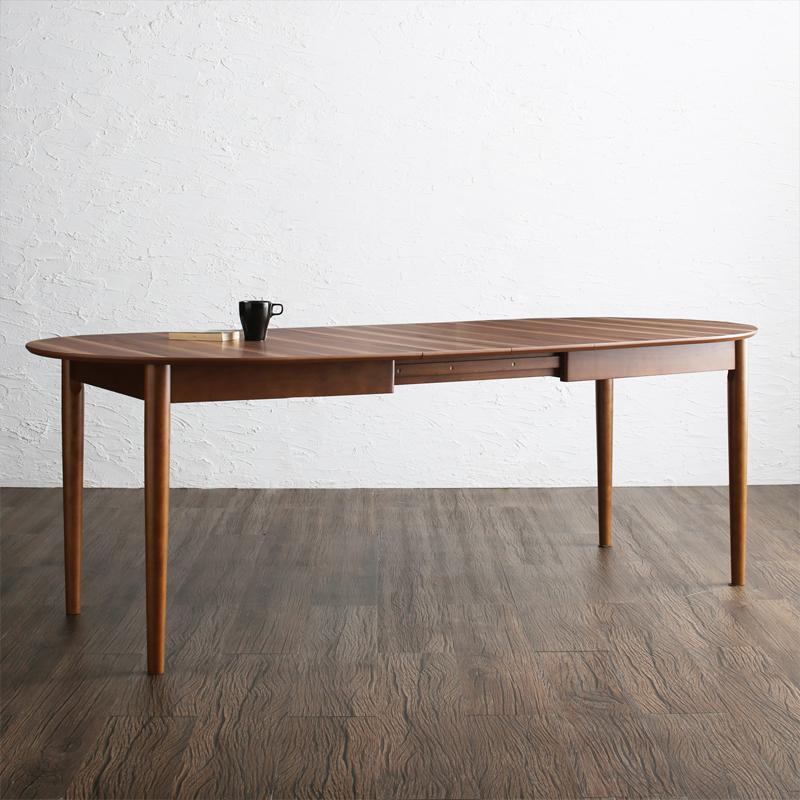 商品名| ELE 伸縮式ダイニングテーブル材 料| ウォールナット突板/ラバーウッド無垢北欧テイスト ウレタン塗装 伸張式テーブル 伸縮式 エクステンションテーブル
