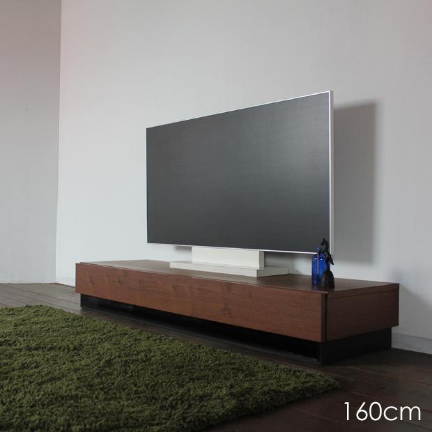 RY-R テレビ台 160cm テレビボード ローボードブラウン ウォールナット幅 160 奥行45 高さ24cm北欧 収納付き TVボードおしゃれ シンプル 国産 日本製ミッドセンチュリーモダン