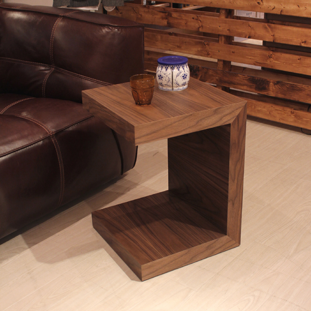 REMI サイドテーブル ナイトテーブルミッドセンチュリーモダン 幅40×奥行40×高さ54cm電話台 木製 シンプル 北欧家具 fax台完成品 引出し付き リビングテーブル