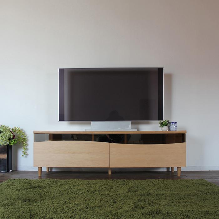 商品名| ESL-R テレビ台 160cm テレビボード ローボード 北欧 完成品カラー| ナチュラル メープルサイズ| 幅 160 奥44.5 高さ48.25cm生産国| 国産 日本製シンプル 北欧ローボード 収納付き 国産テレビ台 130センチ