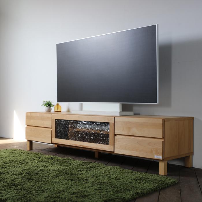 LB テレビ台 160cm テレビボード ローボードナチュラル幅 160 奥行45 高さ39cm北欧 収納付き TVボードおしゃれ シンプル 国産 日本製無垢材 アルダー