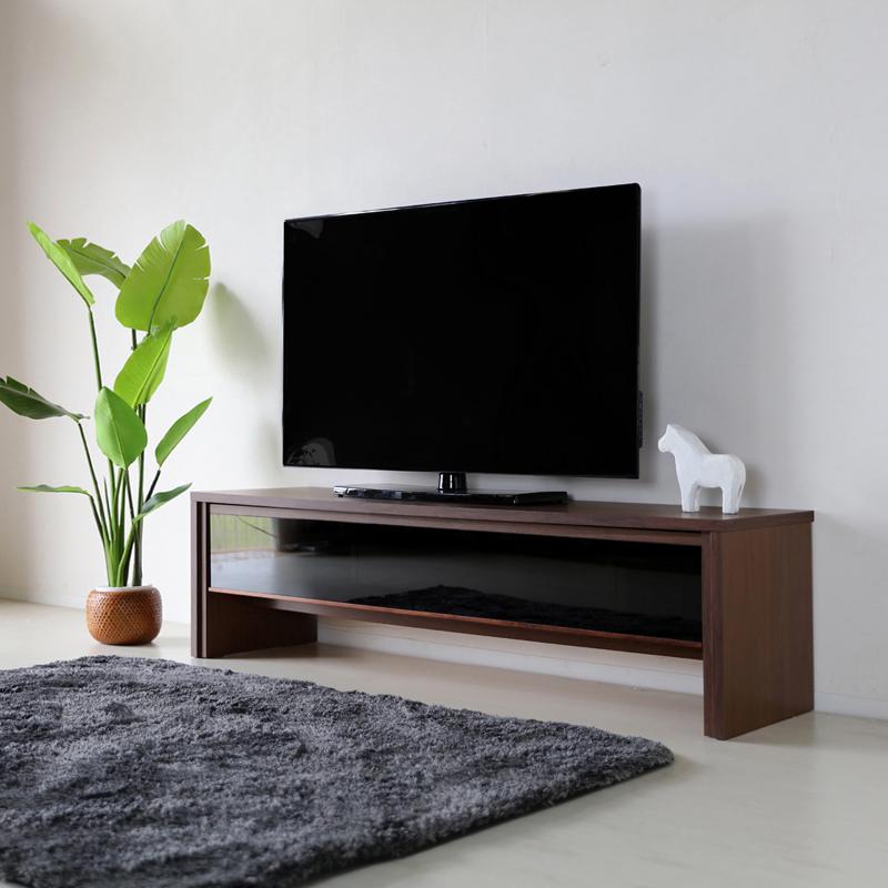 NVS テレビ台 150cm テレビボード ローボードウォールナット ブラウン幅 150 奥行45 高さ45cm国産 日本製ウォールナット 無垢材北欧ローボード 収納付きテレビ台 国産テレビ台 完成品テレビボード