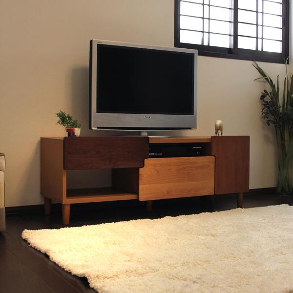 OR-R テレビ台 135cm テレビボード ローボードカラー| ナチュラル ブラウンサイズ| 幅 135 ×奥行42×高さ48cm生産国| 国産 日本製主素材| 無垢材 硬質シート北欧ローボード 収納付きテレビ台 国産テレビ台 完成品