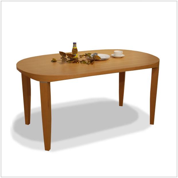 syokudo ダイニングテーブルDT-397幅 150 , 奥行 90 , 高さ 72 cmオーバル(楕円形)ダイニングテーブル北欧テイストのナチュラルモダンなデザイン食卓 机 楕円テーブルモダンリビング