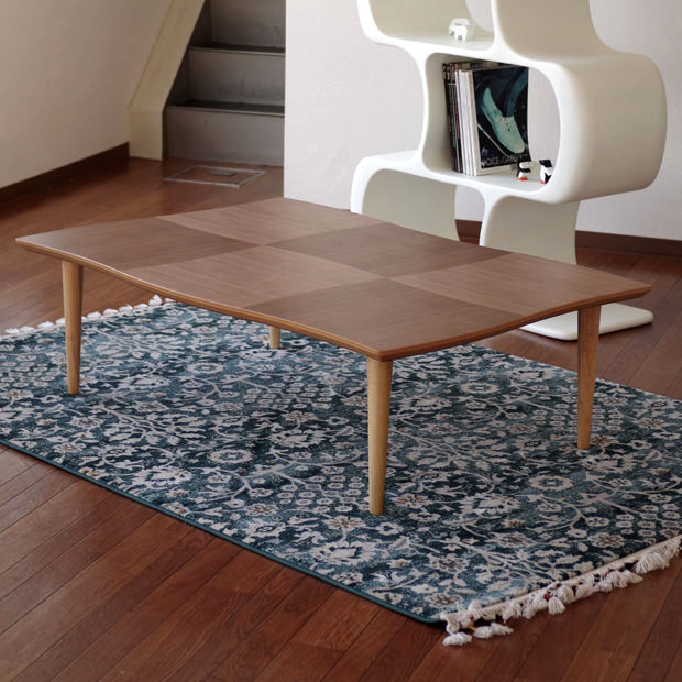 ・ナミ リビングテーブル 120・こたつタイプもございます。・日本製 国産品 ・北欧 ミッドセンチュリー・おしゃれな 座卓 和モダン ちゃぶ台 ローテーブル 北欧・長方形 木製・Room next オリジナルデザイン デザインテーブル