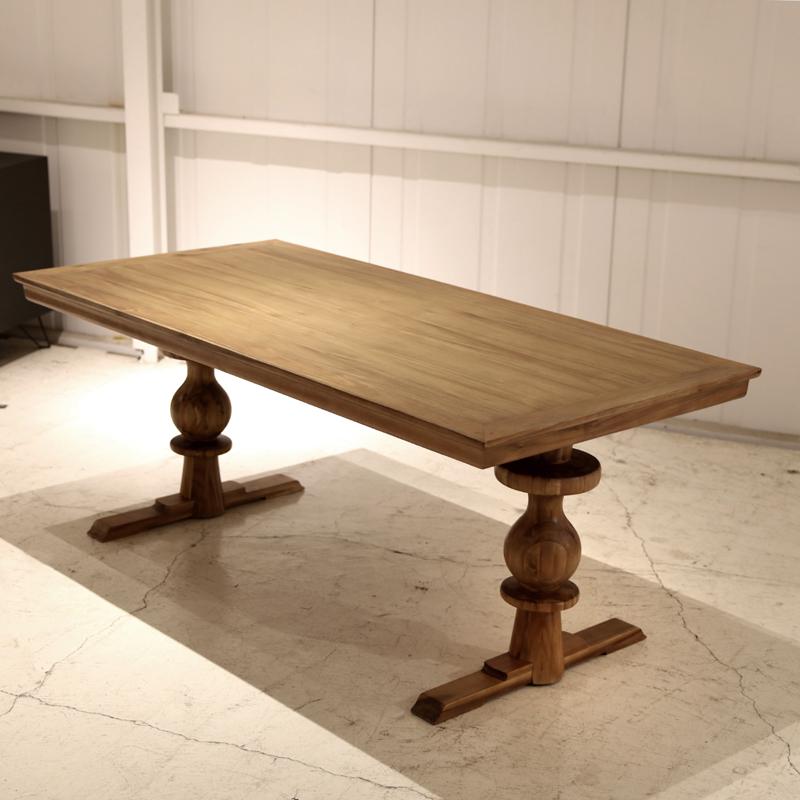 商品名| RNT ダイニングテーブルサイズ|幅180 奥行90 高さ72cm主素材| 天然木 パイン材 無垢材天板厚70mm カントリーテイスト ダイニングテーブル 食卓 木製カフェダイニング 食卓テーブル トラッドスタイル