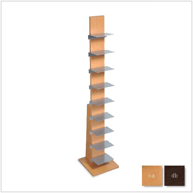 ・ブックタワー L52NA/L51DA・シンプルで北欧モダンなグッドデザイン・雑誌収納ラック、マガジンラック・タワー型ハイタイプ