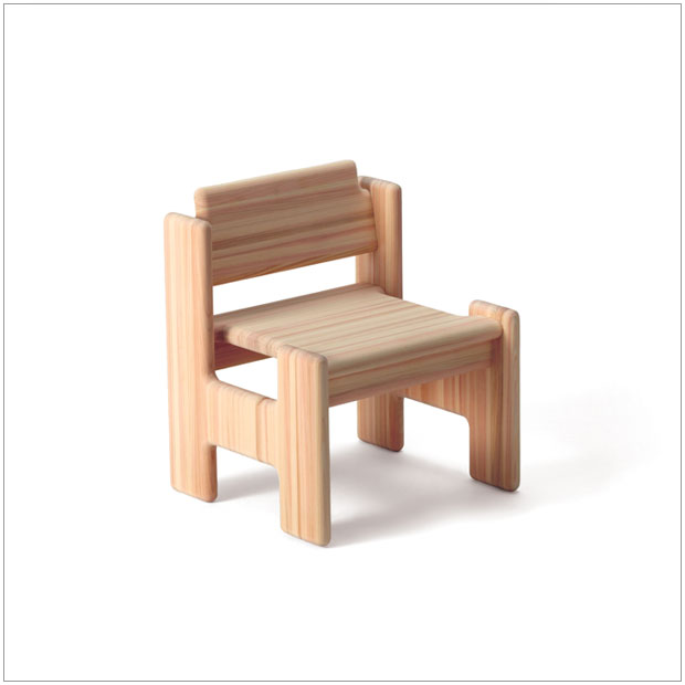 ・スノキ Hチェア・デザイナーズ ブランド品・シンプルで北欧モダンなグッドデザイン・キッズ子供用テーブルイス椅子・オイル&ソープ仕上げ、無垢材・国産品 日本製家具 made in Japan・送料無料