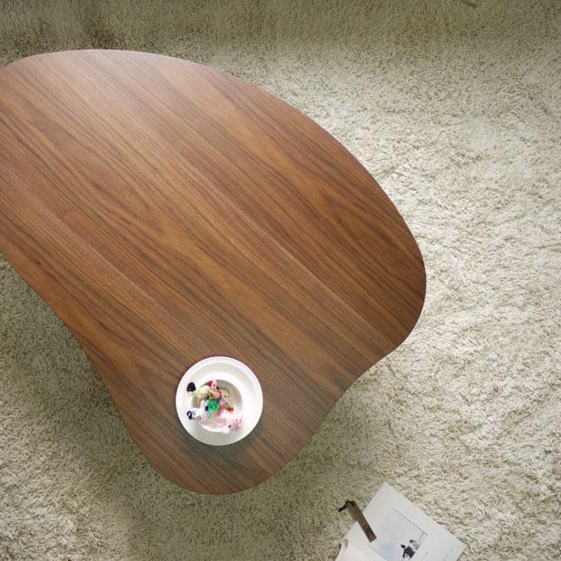 ・ヒーター付き こたつ テーブル Marika ・おしゃれな北欧家具テイスト・北欧ミッドセンチュリーテイストモダンデザイン・座卓 和モダン ちゃぶ台 センターテーブル ローテーブル・ハート型 リビングテーブル 木製 かわいい こたつテーブル 国産