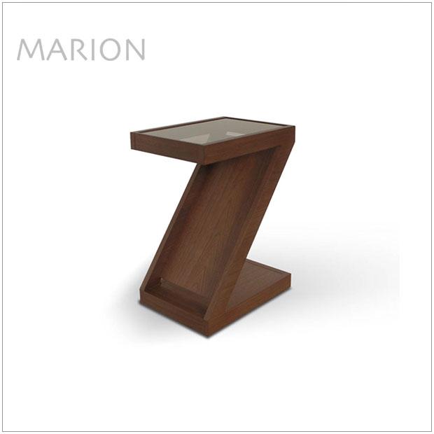 ・マリオン スタンドテーブル・シンプルモダン北欧デザイン ・リビングテーブル、ソファーサイドテーブル・ガラス天板、雑誌マガジン収納付き・国産 日本製 高品質
