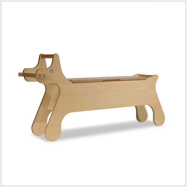 ・PUPPY BENCH パピーベンチ・デザイナーズ ブランド品・シンプルで北欧モダンなグッドデザイン・かわいい子犬型家具・収納付きベンチ キッズ・送料無料