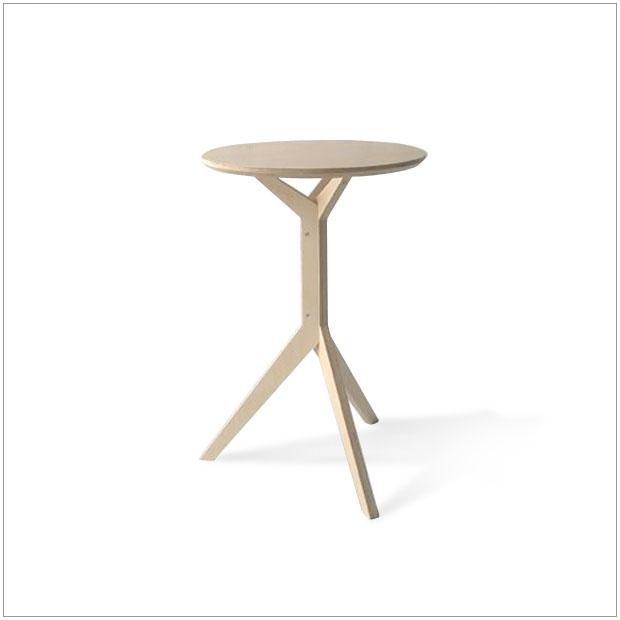 ・XXX サイドテーブル・デザイナーズ ブランド品・シンプルで北欧モダンなグッドデザイン・ナチュラルウッドテーブル・円形テーブル・送料無料