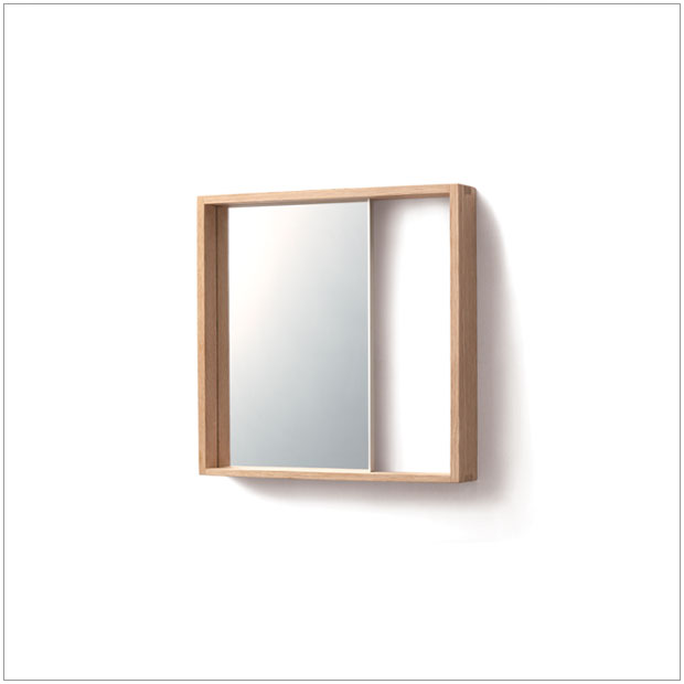 ・コミセンフレーム(大) ミラー・デザイナーズ ブランド品・シンプルな北欧モダンテイスト・和ジャパニーズモダン・木製フレーム壁掛け鏡・送料無料 日本製 国産品