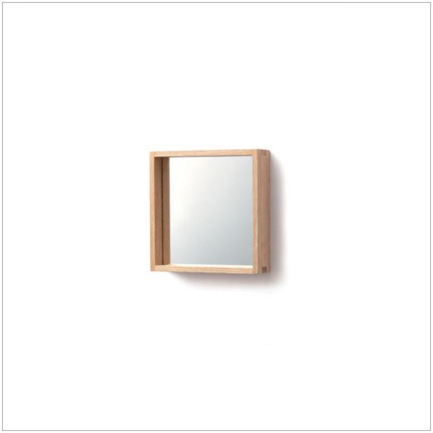 ・コミセンフレーム(小) ミラー・デザイナーズ ブランド品・シンプルで北欧モダンなグッドデザイン・和ジャパニーズモダン日本製国産品・木製フレーム壁掛け鏡・送料無料 日本製