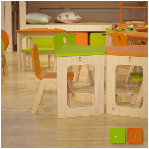・E-ko ミニチェアー + ミニデスク セット・シンプルで北欧ナチュラルなデザイン・かわいい子供家具・子供用椅子スツール