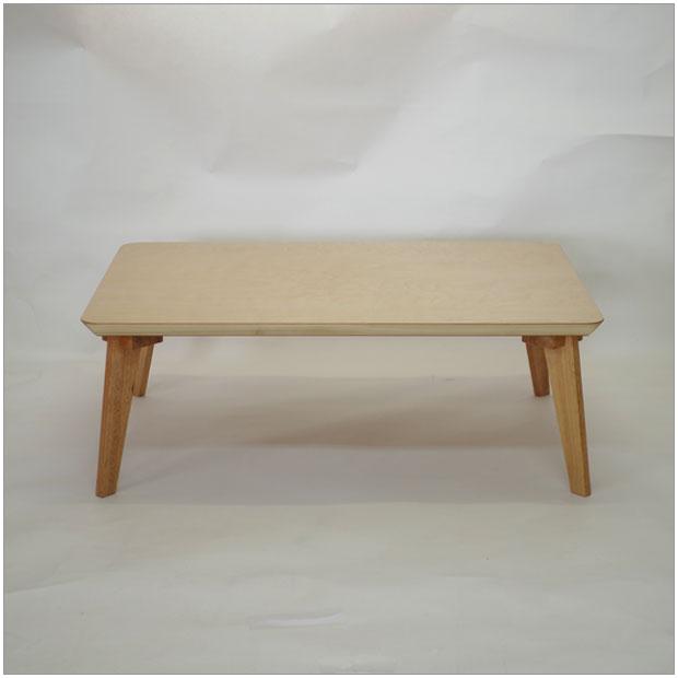 ・kava 105 長方形座卓 ・シンプルな和モダンデザイン・ナチュラル ローテーブルちゃぶだい・リビングテーブル・ナチュラル木目天板