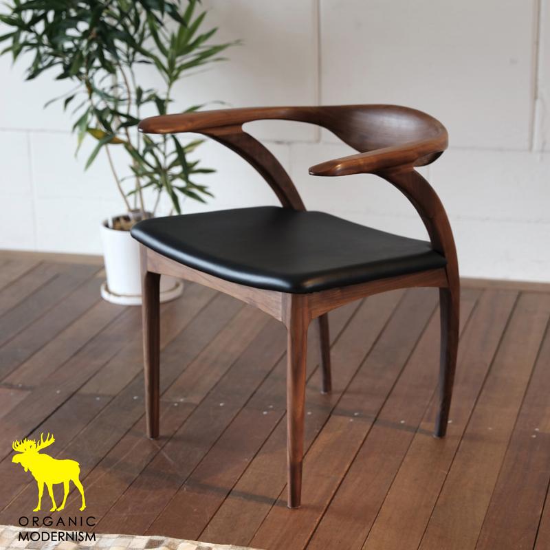 ・og ・ペンギン チェアー(レザー)・北欧ミッドセンチュリーモダンデザイン・オーガニックレトロモダンスタイル・ナチュラルダイニングチェアー・木製椅子、イス、いす