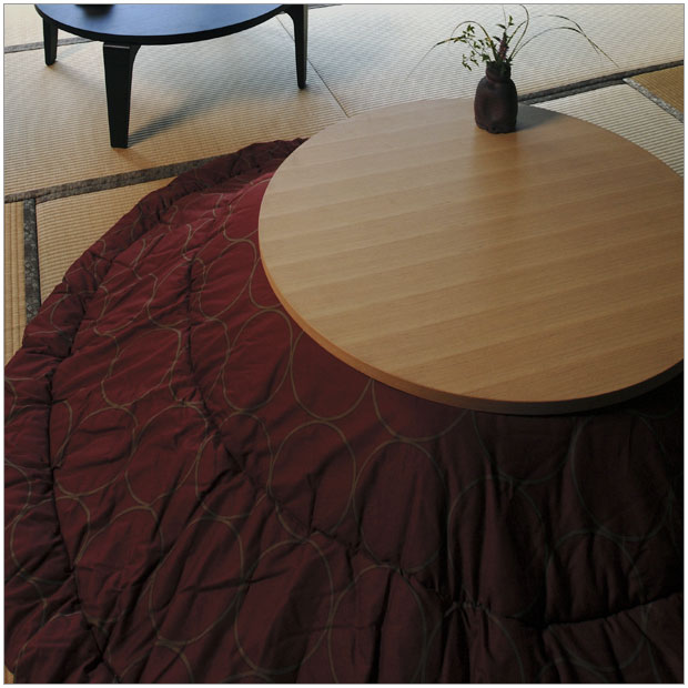And rakuchu Hermitage kotatsu comforter round large 235 and simple Japanese  Japanese modern, good design kotatsu futon, and plain basic fits round ...