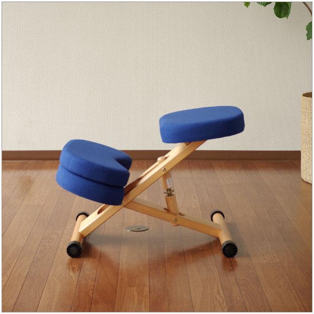 ・キッズスタイルチェアー 補助クッション付き・シンプルで機能的・北欧ナチュラルのグッドデザイン・学習デスク用椅子・ブルー / レッド / ローズ / ブラウンサイズ 幅 49.5 , 奥行 61~68 , 高さ 43~64 cm