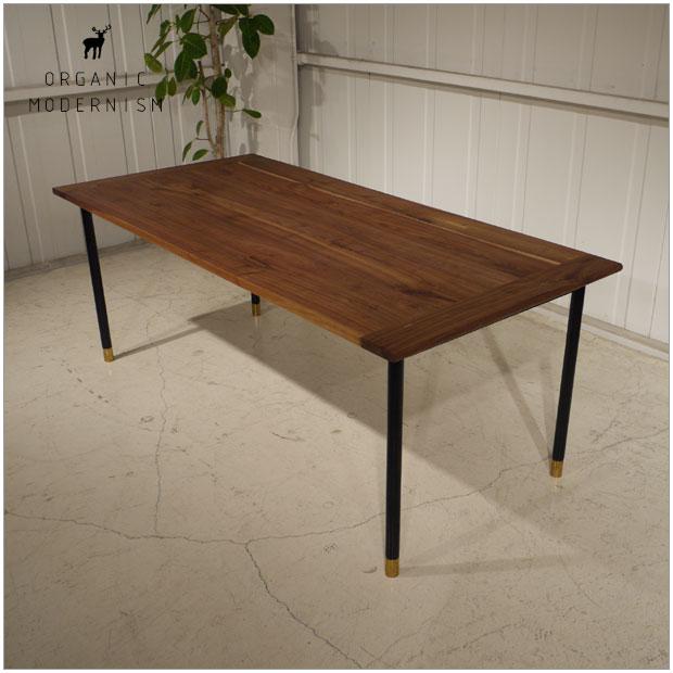 ・Vibo dining tableW190cm ダイニングテーブル ウォールナット無垢材シンプルでモダンなフォルム ・og ・ビボ ダイニングテーブル190・北欧ミッドセンチュリーモダンデザイン・オーガニックレトロモダンスタイル・ウォールナット無垢 ダイニングテーブル・木製テーブル 食卓