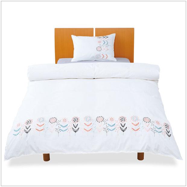 ・可爱的花的刺绣花纹被子覆盖物双、北欧休闲设计新颖、花纹被子覆盖物