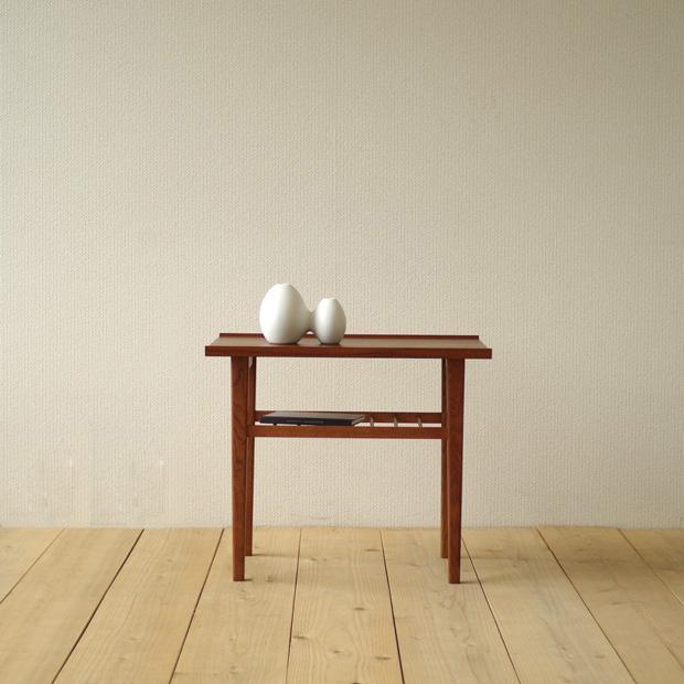 ・SIDE TABLE [RF-078]・SAC WORKS 北欧家具 日本製・北欧テイストのモダンデザイン・サイドテーブル センターテーブル・チーク ブラウン ナチュラル・納期:1~2ヶ月