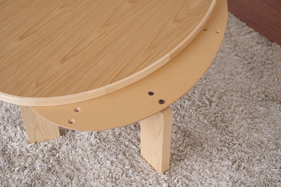 楕円形こたつテーブル・お好みに合わせて脚の位置を替えれます・ハの字脚十字脚・ナラ材のかわいいコタツ・幅120cmオーバル形コタツ・家具調こたつおしゃれ・北欧ジャパニーズモダンデザイン日本製