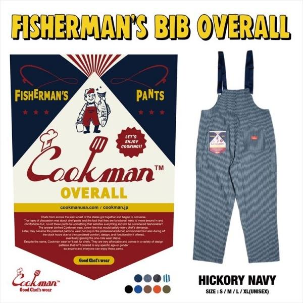 クックマン 特売 COOKMAN フィッシャーマンズ ビブ オーバーロール ヒッコリー ネイビー Fisherman's Bib Hickory Overall 231-01875 メンズ ブランド 半額 アメカジ Navy 送料無料 ストリート