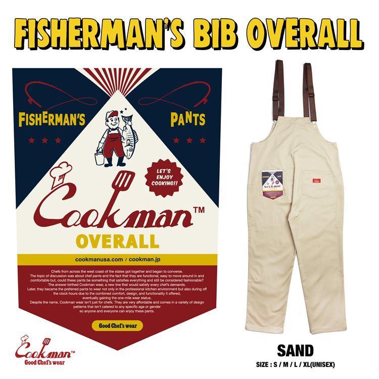 クックマン COOKMAN お得 フィッシャーマンズ ビブ オーバーオール サンド Fisherman's Bib ストリート 贈答 送料無料 ブランド 231-03855 アメカジ メンズ Sand Overall