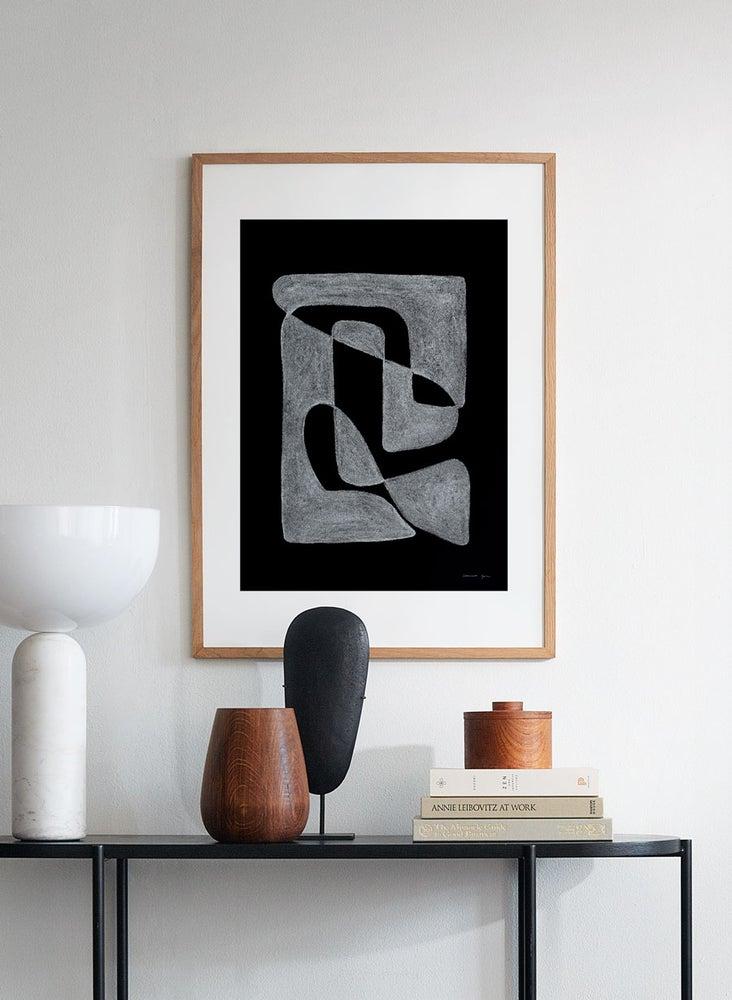【クーポンx送料無料】 ATELIER CPH Lineare black アトリエシーピーエイチ デンマーク コペンハーゲン モダン シンプル カフェ モノクロ ポスター アートプリント 70x50cm おしゃれ インテリア 北欧キャッシュレス5%還元