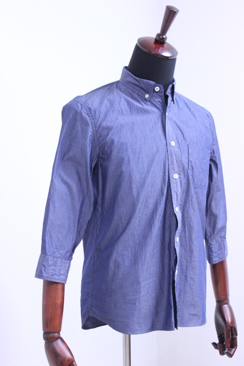 【SALE】STILL BY HAND(スティルバイハンド)6分袖ブロード B/Dシャツ 2color【Men's】