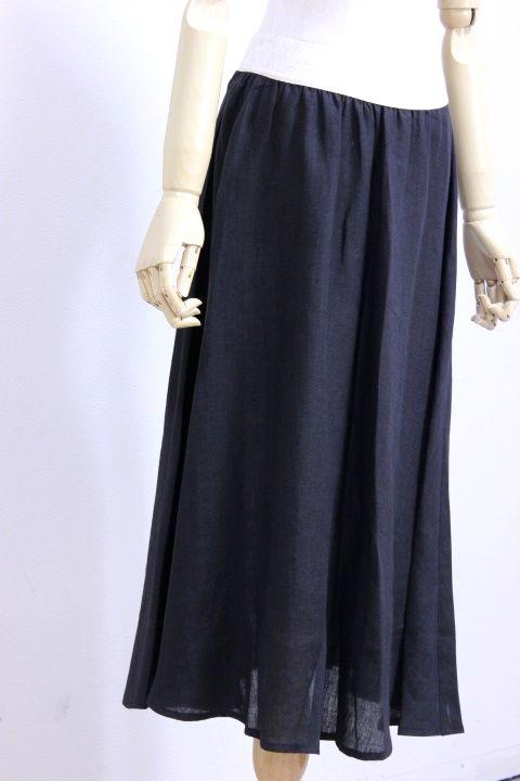 O'NEIL of DUBLIN(オニールオブダブリン) リネン100% Swing Skirt PLAIN #801 2color 2019'S/S【Lady's】