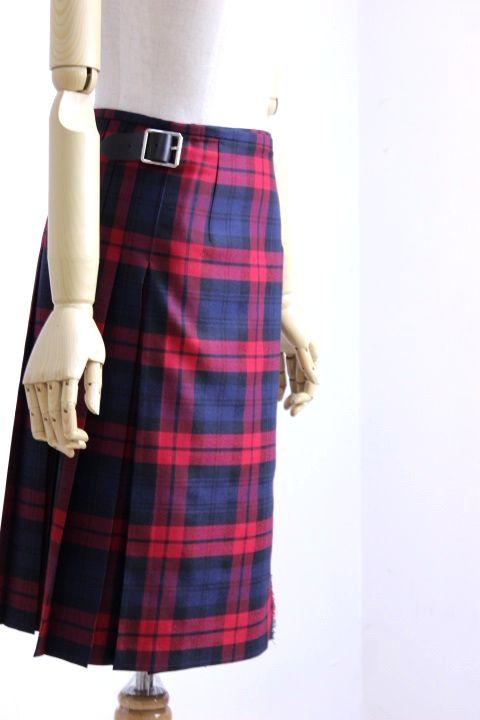 O'NEIL of DUBLIN(オニールオブダブリン) WORSTED WOOL 100% ラップスカート #124/60cm TARTAN 4color 2018'A/W【Lady's】