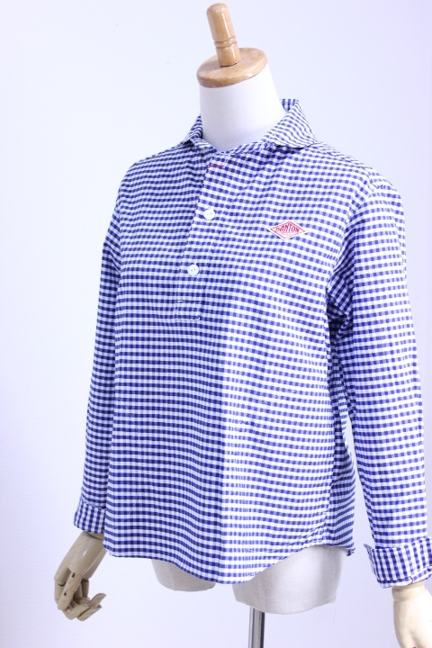 DANTON(ダントン)OXFORD GINGHAM ショールカラープルオーバー #JD-3564 TRD 2color 2019'S/S【Lady's】
