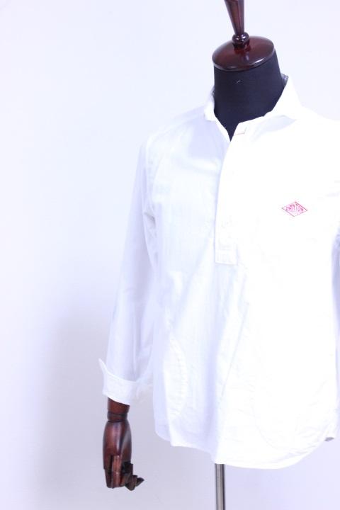 DANTON(ダントン)OXFORD ショールカラープルオーバーシャツ #JD-3568 YOX WHITE 2019'S/S【Men's】