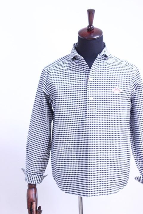 DANTON(ダントン)OXFORD GINGHAM ショールカラープルオーバーシャツ #JD-3568 TRD 2color 2019'S/S【Men's】