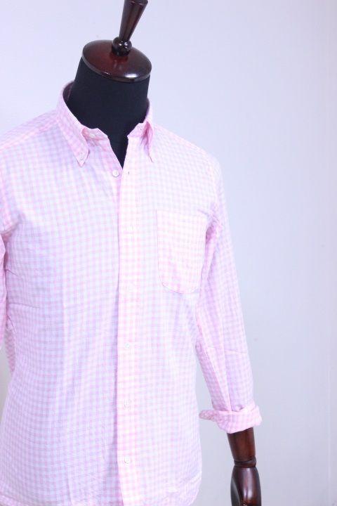 SOUTIENCOL(スティアンコル) Sanfrancisco 2014 CANCLINI メランジェギンガムチェック B/D Shirts【Men's】